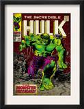 Marvel Comics Retro: The Incredible Hulk Comic Book Cover 105 (aged) Posters