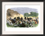 British Royal Horse Artillery Charge against Unmounted Natives near Allahbad, India, c.1857 Prints