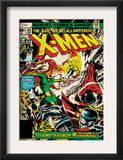 Marvel Comics Retro: The X-Men Comic Book Cover 105, Phoenix, Colossus, Storm, Firelord (aged) Posters