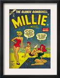 Marvel Comics Retro: Millie the Model Comic Book Cover 45, in Bathing Suit, at the Beach (aged) Prints