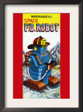 Mechanical Space Fire Department Robot Poster