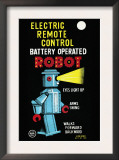 Electric Remote Control Battery Operated Robot Prints