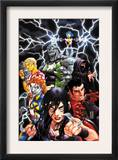 New X-Men 20 Cover: X-23, Hellion, Dust, Mercury, Rockslide, Surge and Elixir Lifting Prints by Mark Brooks