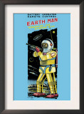 Battery Operated Remote Control Earthman Posters