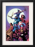 Avengers 80 Cover: Iron Man, Captain America, Vision, Scarlet Witch, Hawkeye, Wasp and Avengers Prints by David Finch