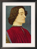 Portrait of Giuliano De Medici Prints by Sandro Botticelli