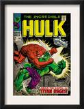 Marvel Comics Retro: The Incredible Hulk Comic Book Cover 106, Titan Rages (aged) Art