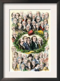 Portraits of the Signers of the Declaration of Independence, Philadelphia, c.1776 Posters