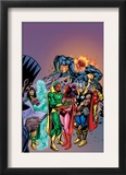 Avengers: Vision And The Scarlet Cover: Vision, Scarlet Witch, Thor, Iron Man and Dormammu Prints by Gil Kane