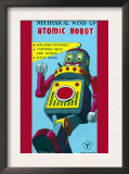 Mechanical Wind-Up Atomic Robot Art