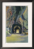 Black Hills, South Dakota - Iron Mountain Road to Mt. Rushmore, View of Twin Tunnels, c.1935 Print