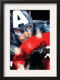 Captain America 37 Cover: Captain America Prints by Jackson Guice