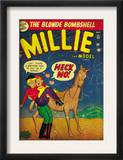 Marvel Comics Retro: Millie the Model Comic Book Cover 34, Getting on a Horse (aged) Poster