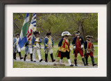 Rochambeau and French Army Reenactors March to the Surrender Ceremony at Yorktown Battlefield Posters