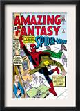 Amazing Fantasy 15 Cover: Spider-Man Swinging Posters by Steve Ditko