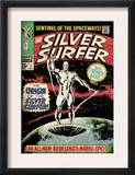Marvel Comics Retro: Silver Surfer Comic Book Cover 1, Origin (aged) Print