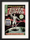 Marvel Comics Retro: Silver Surfer Comic Book Cover 1, Origin (aged) Print