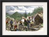 Prospectors Working the Gregory Gold Diggings in the Colorado Rockies, May 1859 Prints