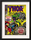 Marvel Comics Retro: The Mighty Thor Comic Book Cover 142, Scourge of the Super Skrull! (aged) Prints