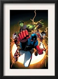 The Young Avengers 1 Cover: Patriot, Hulkling, Wiccan, Iron Lad, Asgardian and Young Avengers Posters by Jim Cheung