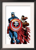 Captain America & The Falcon 1 Cover: Captain America and Falcon Prints by Bart Sears