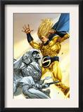 Vengeance of the Moon Knight 2 Cover: Moon Knight and Sentry Print by Leinil Francis Francis Yu