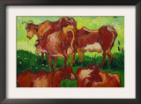 Les Vaches Prints by Vincent van Gogh
