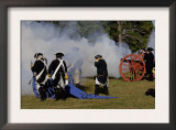 Artillery Demonstration, Revolutionary War Reenactment at Yorktown Battlefield, Virginia Art