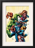Marvel Adventures Avengers 8 Cover: Captain America Prints by Sean Chen