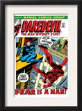 Daredevil 100 Cover: Daredevil and Black Widow Posters by Gene Colan