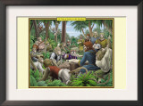A Tribe of Indian Scribe Monkeys Print by Richard Kelly