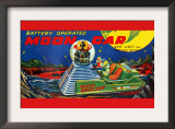 Moon Car Posters