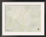Political Map of Inman, SC Print