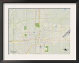 Political Map of Amarillo, TX Prints