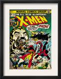 Marvel Comics Retro: The X-Men Comic Book Cover 94, Colossus, Nightcrawler, Cyclops (aged) Print