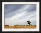 US Army Sergeant Provides Security During a Patrol of the Riyahd Village in Iraq Posters by  Stocktrek Images