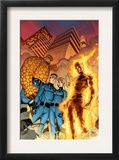 Fantastic Four 510 Cover: Mr. Fantastic, Invisible Woman, Human Torch, Thing and Fantastic Four Art by Mike Wieringo
