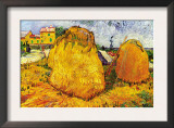 Haystacks In Provence Art by Vincent van Gogh