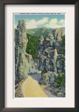 Black Hills, South Dakota - View of Sentinel Rock on the Needles Highway, c.1935 Prints