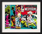 Marvel Comics Presents 4 Cover: Wolverine, Razorfist, Marvel Babies and Spider-Man Fighting Art by John Buscema