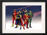 The Official Handbook Of The Marvel Universe Teams 2005 Group: Comet Print by Mike Harris