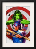 She-Hulk 2 Cover: She-Hulk and Hawkeye Print