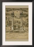 Masonic Symbols - Master Masons Diploma Poster