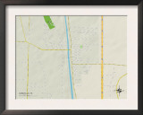 Political Map of Canutillo, TX Posters