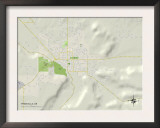 Political Map of Prineville, OR Poster