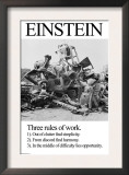 Einstein; Three Rules of Work Art by Wilbur Pierce