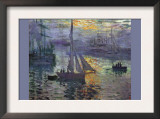 Sunrise At Sea Poster by Claude Monet