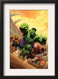 Marvel Adventures Hulk 12 Cover: Hulk, Thing and Juggernaut Art by David Nakayama