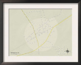 Political Map of Mayesville, SC Prints