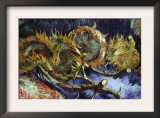 Four Sunflowers Gone To Seed Prints by Vincent van Gogh